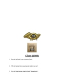 Civil War: Glory Movie Questions and Key and 54th Massachu