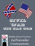 AMERICAN HISTORY - Civil War Tic-Tac-Toe Choices