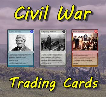 Civil War Trading Cards (US History)