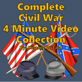 Civil War in 4 Minutes Complete Video Lesson Plan Collection