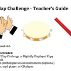 Clap Challenge Rhythm Activity clapping percussion Music C