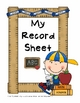 Class List Sheet and Record Sheet - Blank Grids for Teachers