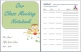 Class Meeting Notebook Printables