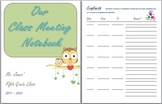 Class Meeting Notebook Printables