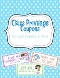 Class Privilege (Reward) Coupons