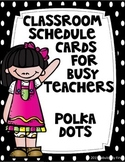 Class Schedule Cards (Black and White Polka Dots)