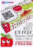 Class Website QR Code Business Card Template - FREE