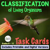 Classification and Taxonomy Task Cards, Grades 7-12, Set of 64