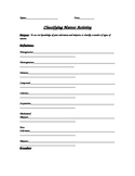 Classifying Matter Lab Activity