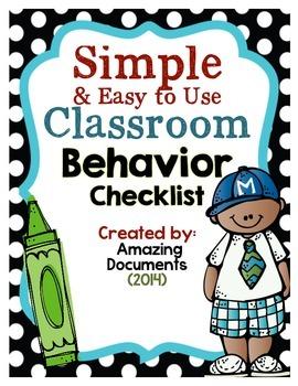 Classroom Behavior Checklist