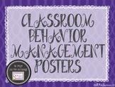 Classroom Behavior Management Posters