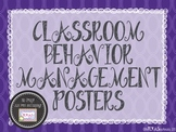 Classroom Behavior Management Posters