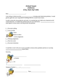 Classroom Behavior Parent Letter in English and Spanish