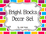 Classroom Decor- Bright Blocks