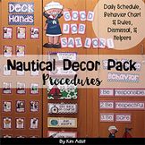 Classroom Decor Nautical Theme - Procedures by Kim Adsit