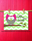 Christmas Gift Owl Classroom Printable Personalized Teache