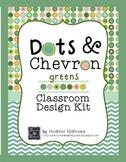 Classroom Design Kit - Dots and Chevron - green