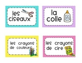 Classroom Environmental print labels in French materials a