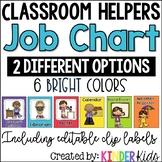 Classroom Helpers Job Cards **EDITABLE**