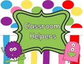 Classroom Helpers Labels