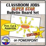 Classroom Jobs Super Star Helpers Bulletin Board Set