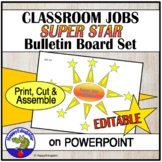Classroom Jobs Super Star Helpers Bulletin Board Set