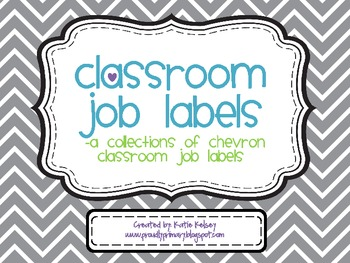 Classroom Job Labels_Back to School