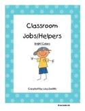 Classroom Jobs Bright Polka Dots