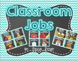 Classroom Jobs Polka Dot and Chevron and EDITABLE Job Card