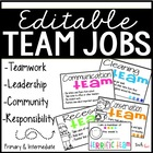 Classroom Jobs {Team Jobs}