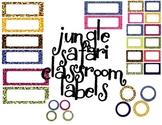 Classroom Labels - Jungle/ Safari