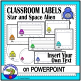 Editable Labels - Stars and Space Kids