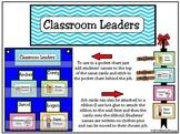 Classroom Leaders Job Cards Chevron Pattern