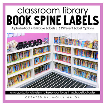 Classroom Library Rainbow Book Spine Labels