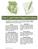 Classroom Magazine Comprehension Activities (Time, Scholas
