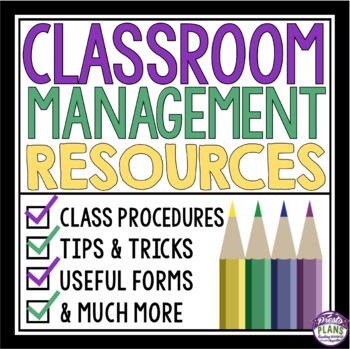 CLASSROOM MANAGEMENT RESOURCE BUNDLE: Middle & High School (Purple Theme)