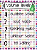 Classroom Management Volume Level Charts frog bright chevr