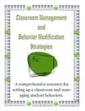 Classroom Management and Behavior Modification Strategies