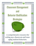 Classroom Management and Behavior Modification Strategies