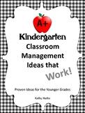 Classroom Management for Kindergarten