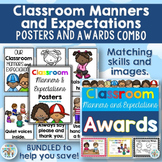 Classroom Manners and Expectations Posters and Awards COMBO