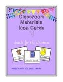 Classroom Materials Visual Cards