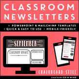 Classroom Newsletter Templates: Chalkboard Style