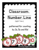 Classroom Number Line with Patterns for Skip Counting {App