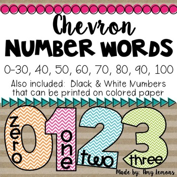 Classroom Number Words