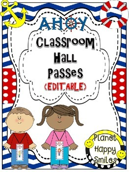 Classroom Passes (EDITABLE) ~ Nautical