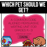 Classroom Pet Opinion Writing Unit