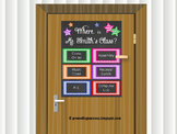Classroom Poster Door Decoration Back to School Decor Orga