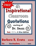 Classroom Quotations from Dr. Seuss - Red, White and Blue Edition