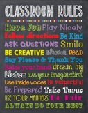 Classroom Rules Chalkboard Chalk It Up! Poster Sign Printa